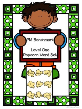 Popcorn Words - PM Benchmark Level 1 - Sight Words