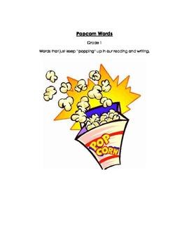 Popcorn Words- Grade 1