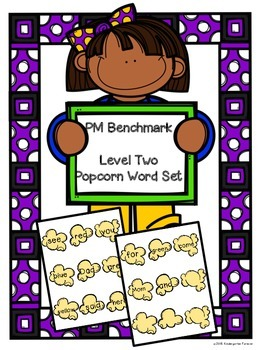Popcorn Words - PM Benchmark Level 2 - Sight Words