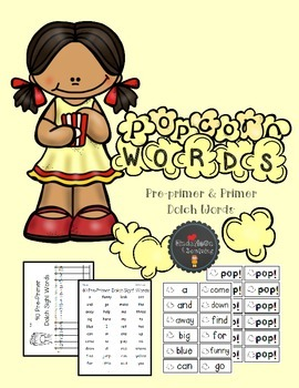 Popcorn Words: Pre-Primer and Primer Dolch Words