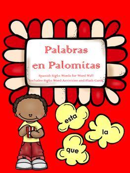 Popcorn Words SPANISH Sight Words Palabras en Palomitas