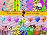 Popped and Frosted - cupcakes and balloons pack