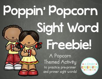 Poppin Popcorn Sight Word Freebie!