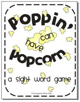 Poppin' Popcorn Words:  A Sight Word Game