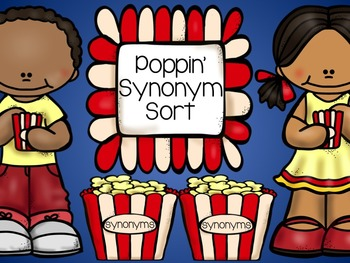 Poppin' Synonym Sorting Center Activity