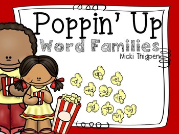 Poppin' Up Word Families