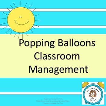 Popping Balloons Classroom Management