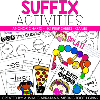 Suffixes Activities Pack