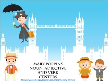 Poppins Noun, Adjective and Verb Centers