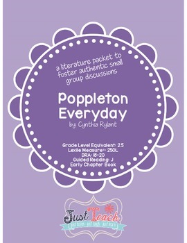 Poppleton Everyday - Small Group Literature Packet