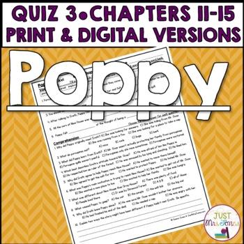 Poppy Quiz 3 (Ch. 11-15)