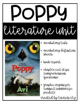 Poppy by Avi - Literature Unit