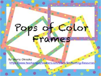 Pops of Color FREE Frames
