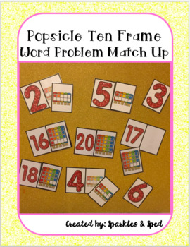 Popsicle 10 and 20 frame match up game