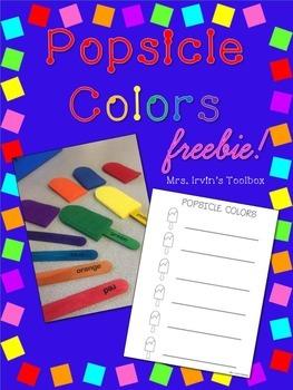 Popsicle Colors Freebie