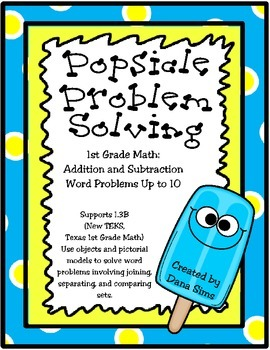 Popsicle Problem Solving: 1st Grade Math
