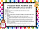 Math Centers K-2 - Popsicle Stick Math Activities / Center