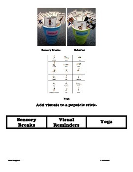 Popsicle Stick Visuals: Sensory, Behavior, & Yoga Breaks (