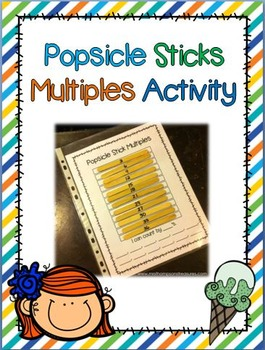 Popsicle Sticks Math Activity - Multiples