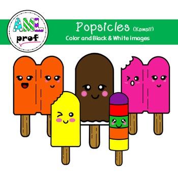 Popsicle clipart summer Kawaii (été, pop glacé)