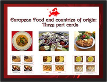 Popular European Food and their Countries of Origin: three