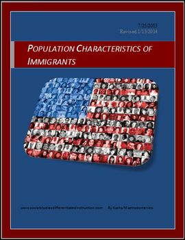 Population Characteristics of Immigrants PowerPoint & Less