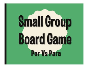 Por Vs Para Board Game