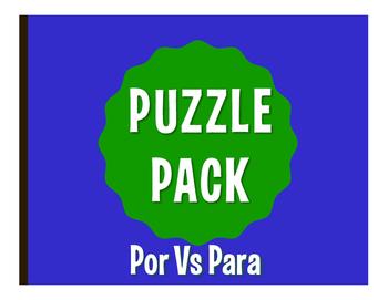 Por Vs Para Puzzle Pack