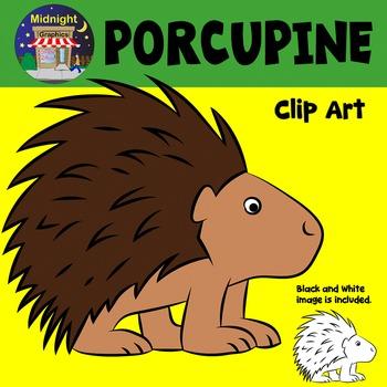 Porcupine Zoo Animals Clip Art