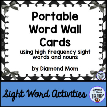 Portable Word Wall - Black and White Edition