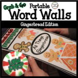 Portable Word Wall: December Gingerbread Thematic Word Lists