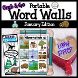 January Word Wall: Penguins, Hibernation, Winter Thematic
