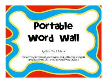 Portable Word Wall Mini Folders