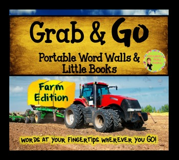Portable Word Wall and Little Books: Farm