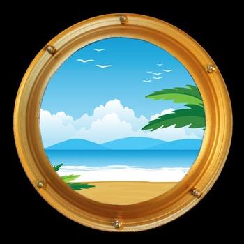 Porthole decoration for a kid's bedroom
