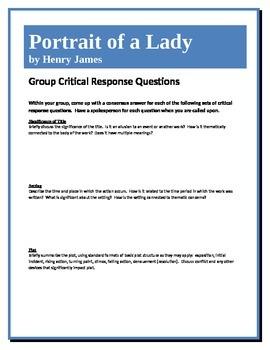 Portrait of a Lady - James - Group Critical Response Questions