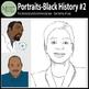 Portraits Black History Month Clip Art #2 {Messare Clips a
