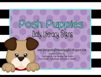 Posh Puppies Daily Literacy Signs