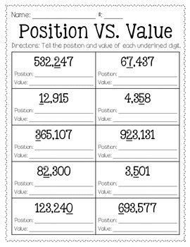 Position vs. Value Freebie