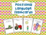 Positional Language Flashcards for Kindergarten (Reception)