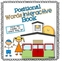 Positional Words Interactive Book - Prepositions TOO!