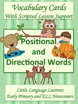 ESL Vocabulary-Positional and Directional Cards-Early Prim