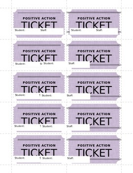 Positive Action Tickets