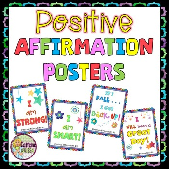 Positive Affirmation Posters ✮ Growth Mindset ✮ Leadership ✮ Self Affirmations by Caffeine Queen