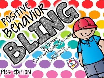 Positive Behavior Bling--PBS- POSITIVE BEHAVIOR CLUB Reward Tags