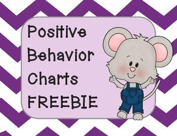 Positive Behavior Charts FREEBIE