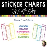 Positive Behavior Chevron Sticker Charts