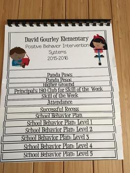 Positive Behavior Intervention System Teacher Flip Book, P