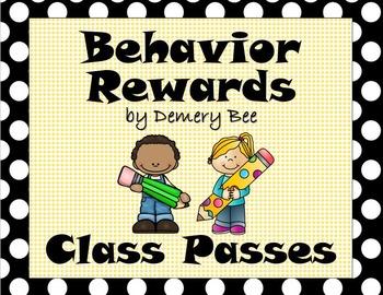 Positive Behavior Reinforcement: Class Passes & Choice Spinner