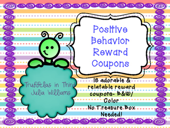 Positive Behavior Reward Coupons